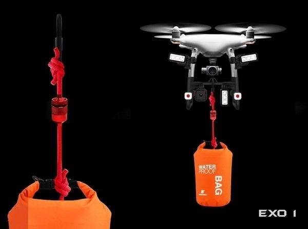 加上一个配件 大疆无人机秒变搜救机