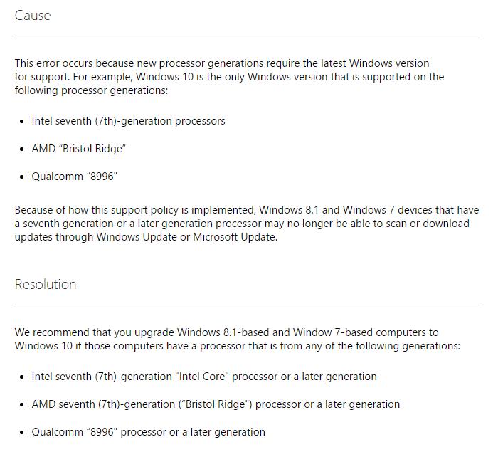 使用Ryzen的你还在用Windows 7?微软现在不给你更新了