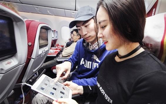 中国首次实现飞机上移动支付!支付宝真上天了