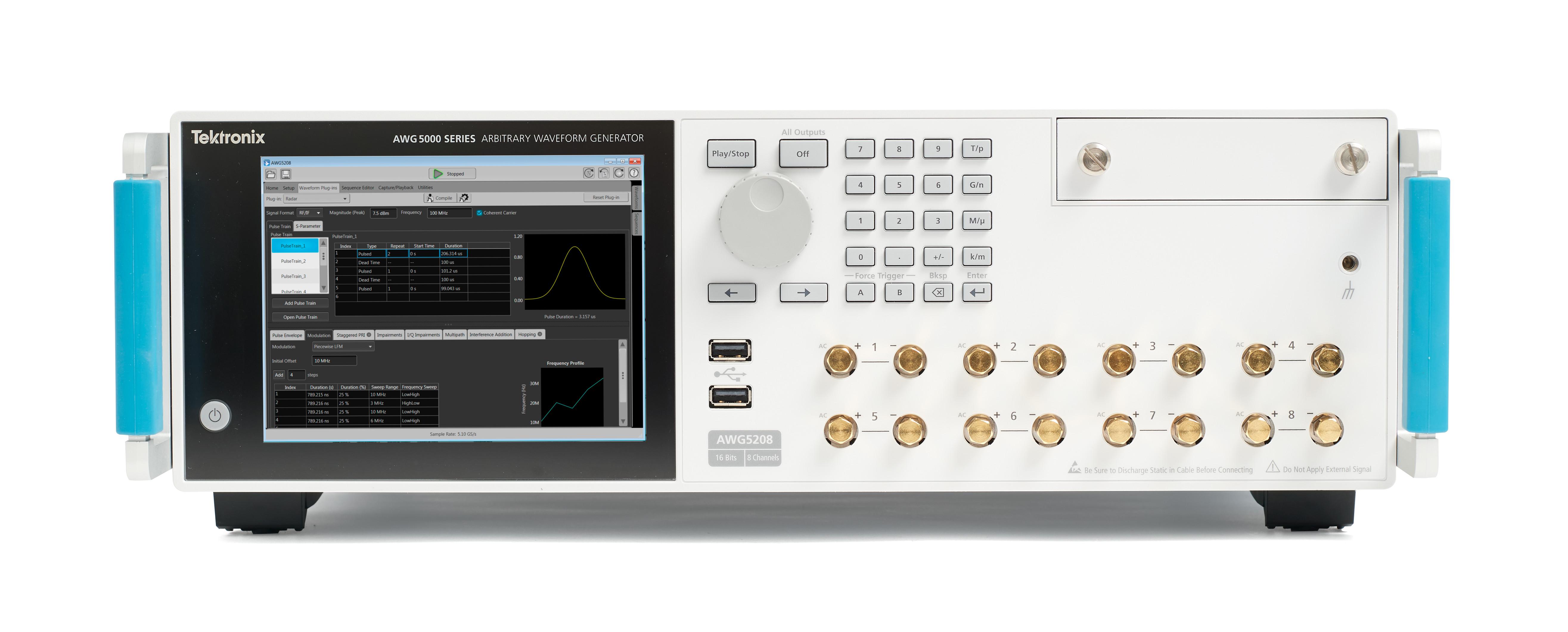泰克最新任意波形发生器满足高级研究、 雷达/电子战争设计中苛刻的信号发生要求