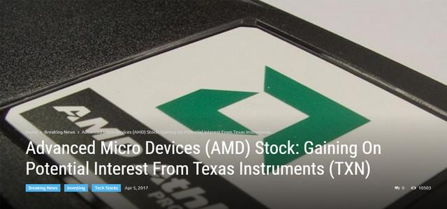 网曝德州仪器欲出164亿美元收购AMD,是真是假?