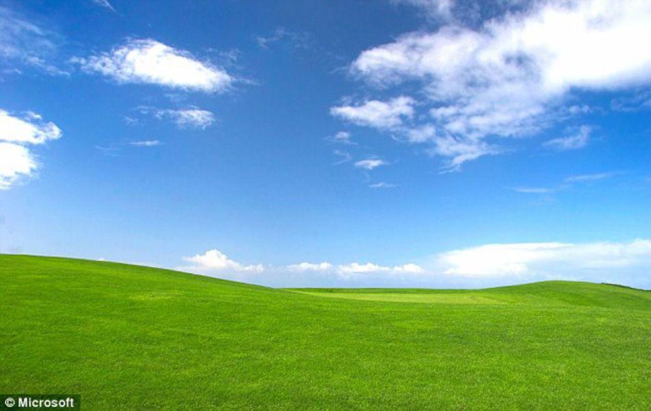 我们熟悉XP系统的蓝天白云桌面,如今是什么样子了呢?