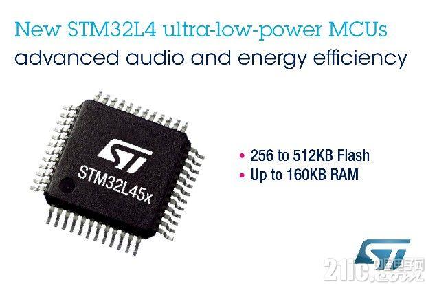 意法半导体提供集成数字滤波器的新STM32L4微控制器