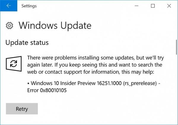Windows 10新版Build 16251:用户升级后遭殃