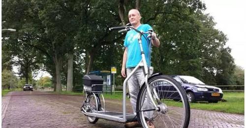 黑科技!大叔将跑步机与自行车结合发明步行车,获上班族追捧