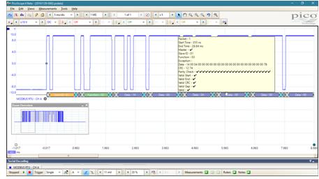 英国比克科技(Pico Technology)发布用于调试PLC应用的Modbus解码软件