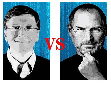 乔布斯与比尔・盖茨几次有趣的对骂,看梦想家和企业家之间的较量