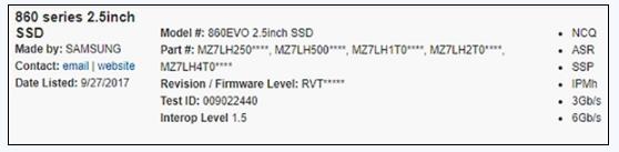 三星860 EVO固态硬盘曝光:QLC闪存,最高存量高达4TB