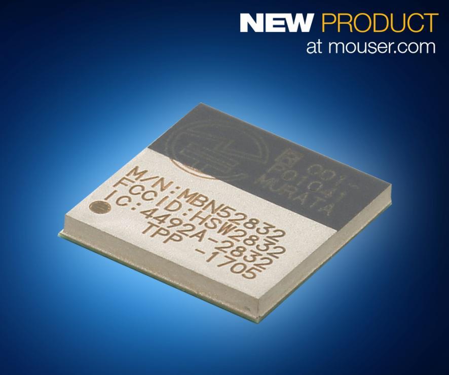 贸泽开售Murata基于nRF52的WSM-BL241 蓝牙 5 模块