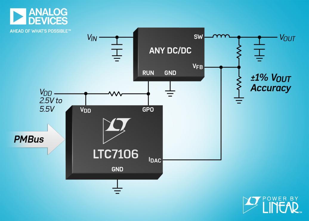 利用一个串行 PMBus 接口,控制任何 DC/DC 稳压器的 VOUT