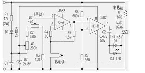 60w电烙铁调温电路图