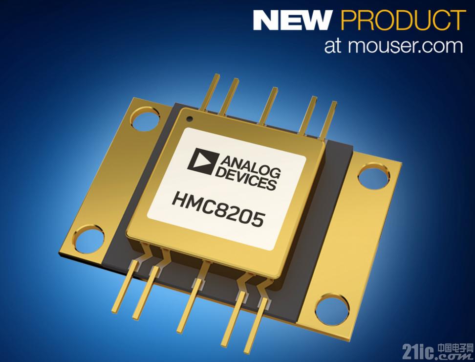 贸泽开售Analog Devices HMC8205 GaN功率放大器为宽带设计提供理想选择