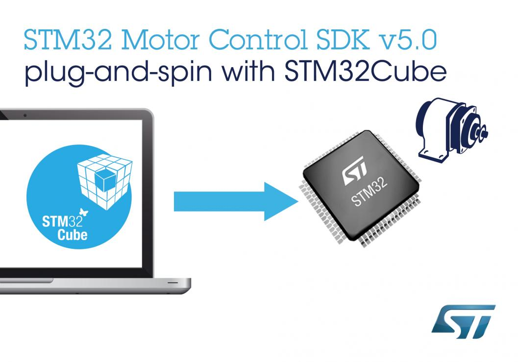 意法半导体新STM32软件开发工具套件让电机控制设计更快、更容易