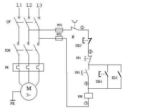 电动机启停控制电路图