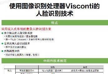 使用图像识别处理器Visconti的人脸识别技术
