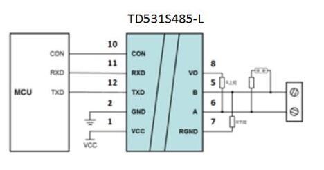 静态电流8mA!小体积RS485隔离收发模块——TD5(3)31S485-L、TD5(3)21D485-L系列