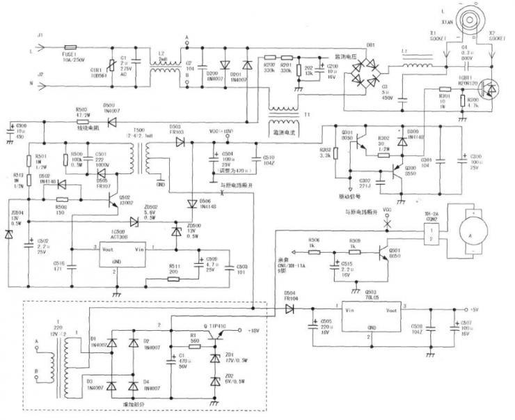 攻破电磁炉维修技术,电磁炉维修之九阳电磁炉电路图