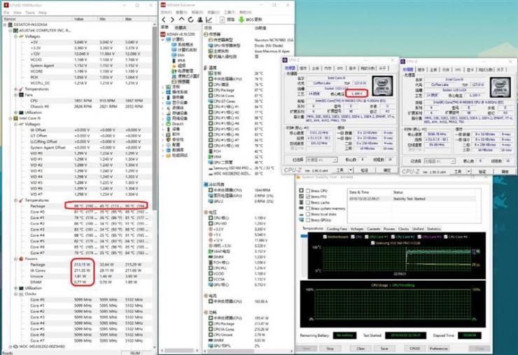 酷睿i9-9900KS不同Hz下的超频性能测评