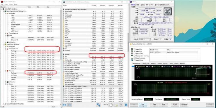 酷睿i9-9900KS、i9-9900K对比测评之温度、功耗双测评
